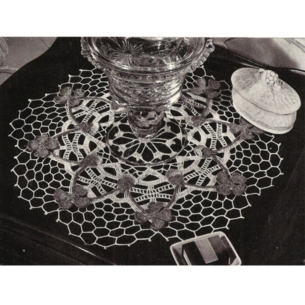 Pink Clover Vintage Crochet Doily Pattern