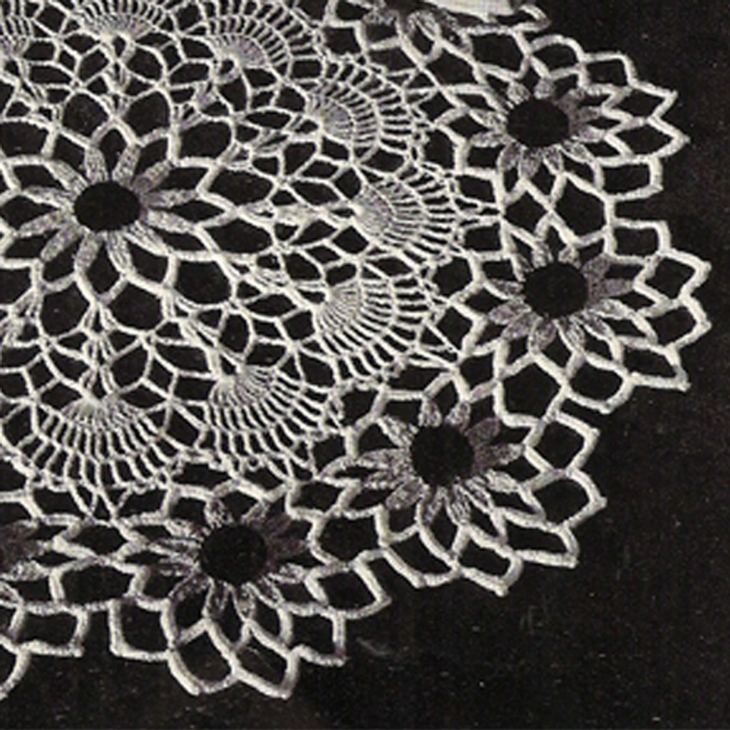 Vintage Crochet Pattern, Black Eyed Susan