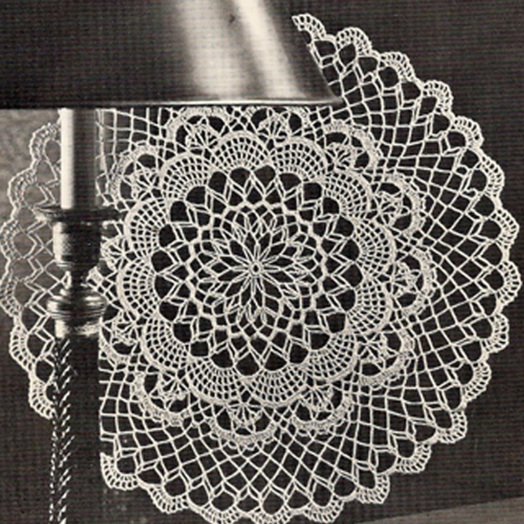 Crochet Pattern, Deep Lagoon Doily