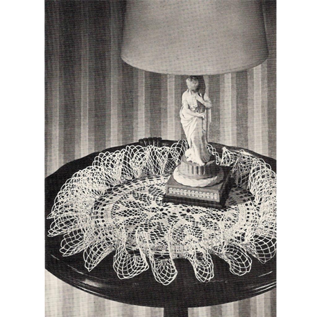 Centerpiece Flower Ruffled Doily Crochet Pattern