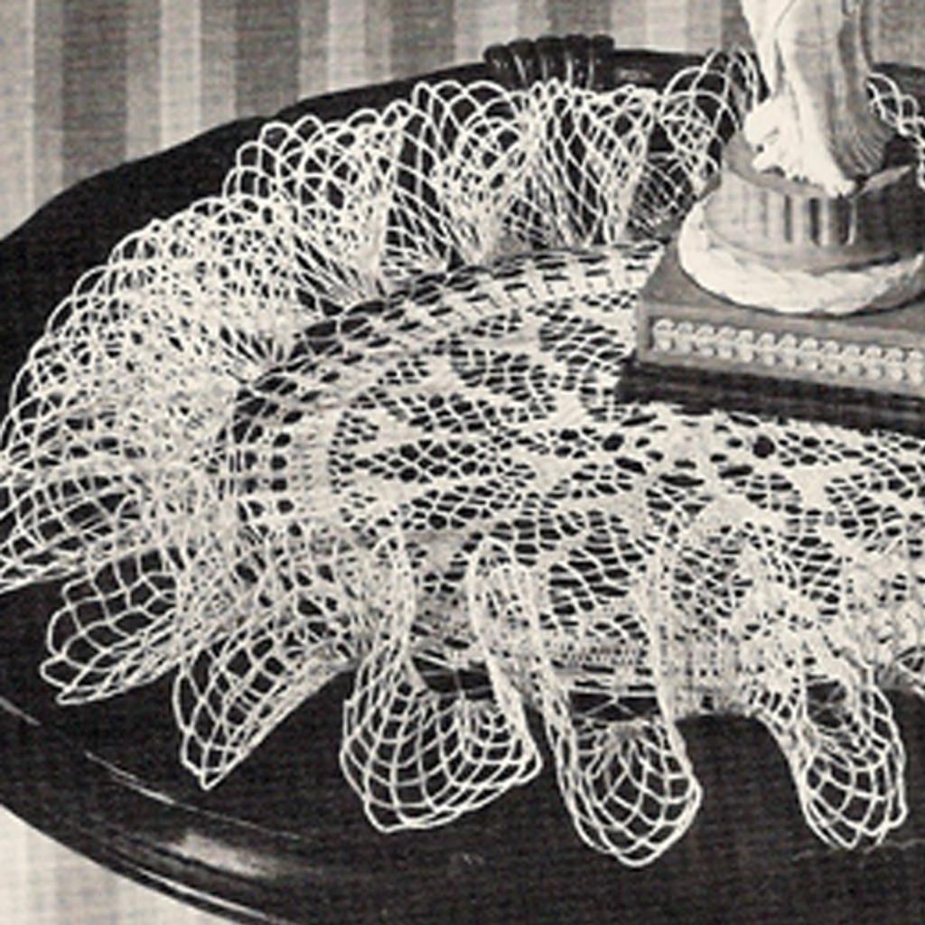 Ruffled Lace Crochet Flower Doily Pattern