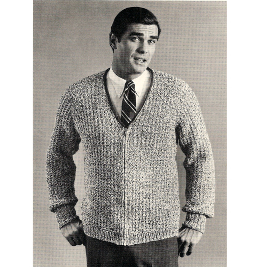 Mans Zippered Knit Jacket Pattern