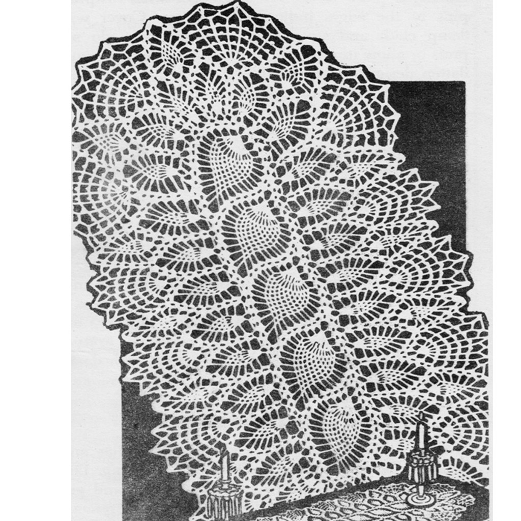 Crocheted Pineapple Scarf Pattern Design 3170