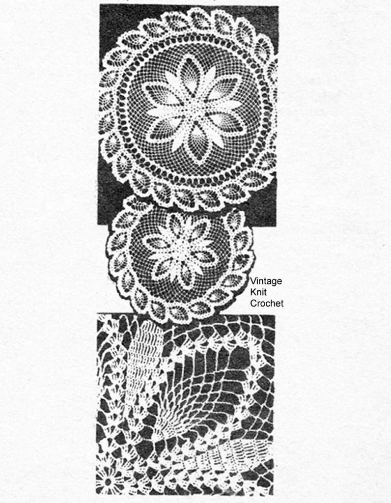 Vintage Pineapple Doily Pattern, Laura Wheeler 628