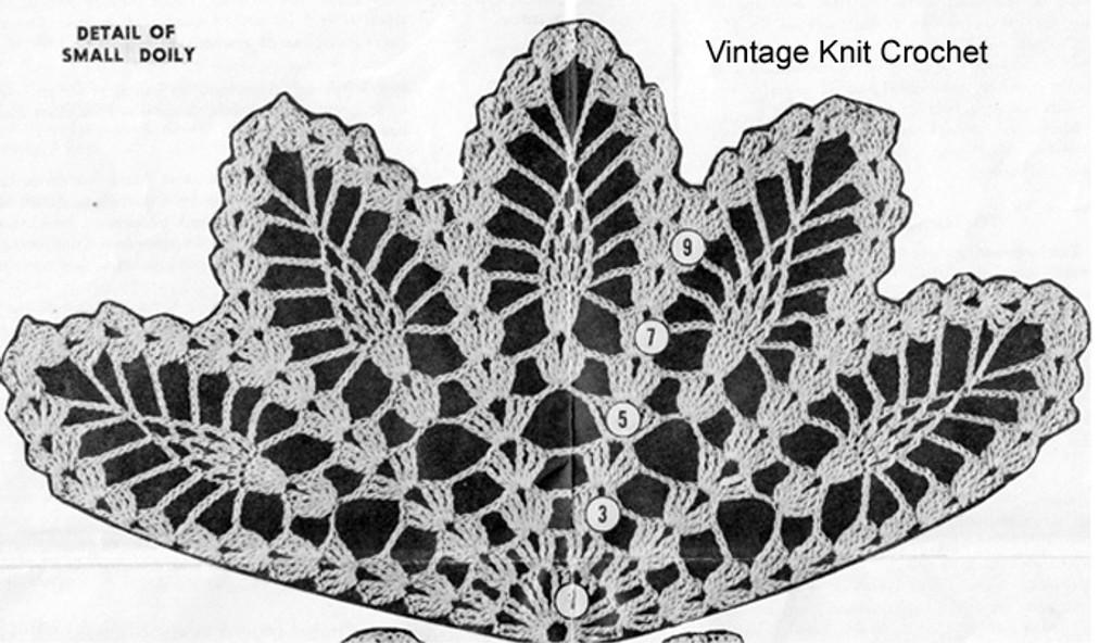 Small pineapple wheel doily illustration for Design 738