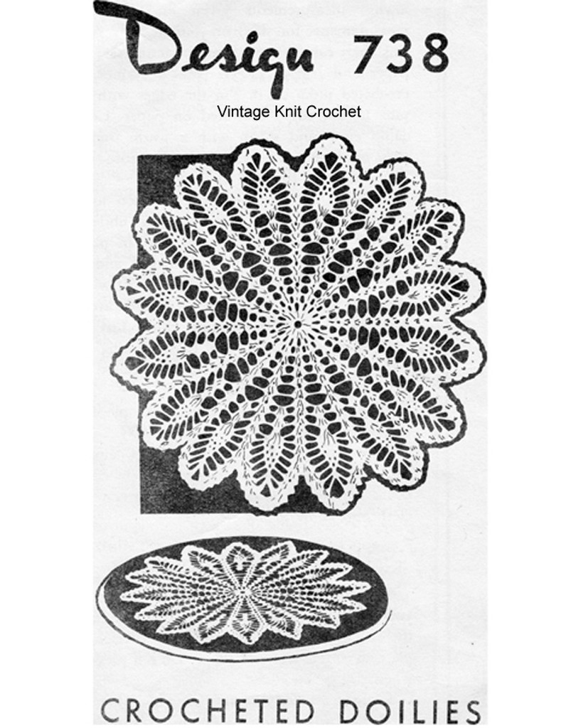 Large Wheat Doily Crochet Pattern, Mail Order 738
