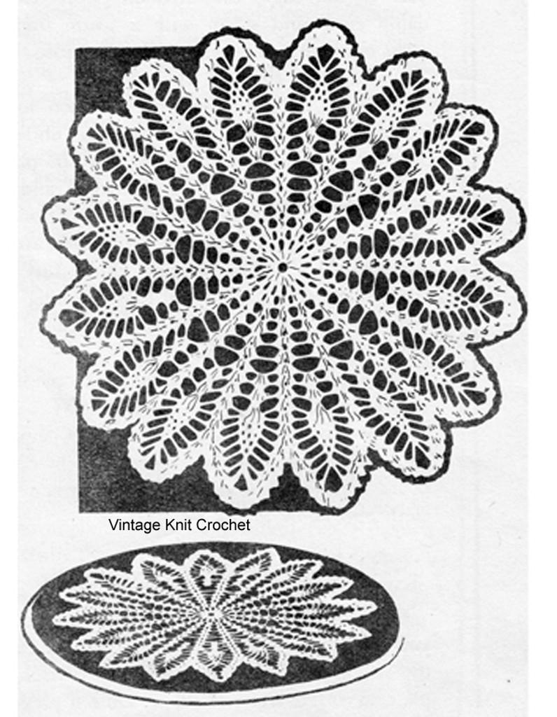 Wheel Crocheted Doily Pattern, Large Small, Laura Wheeler 738