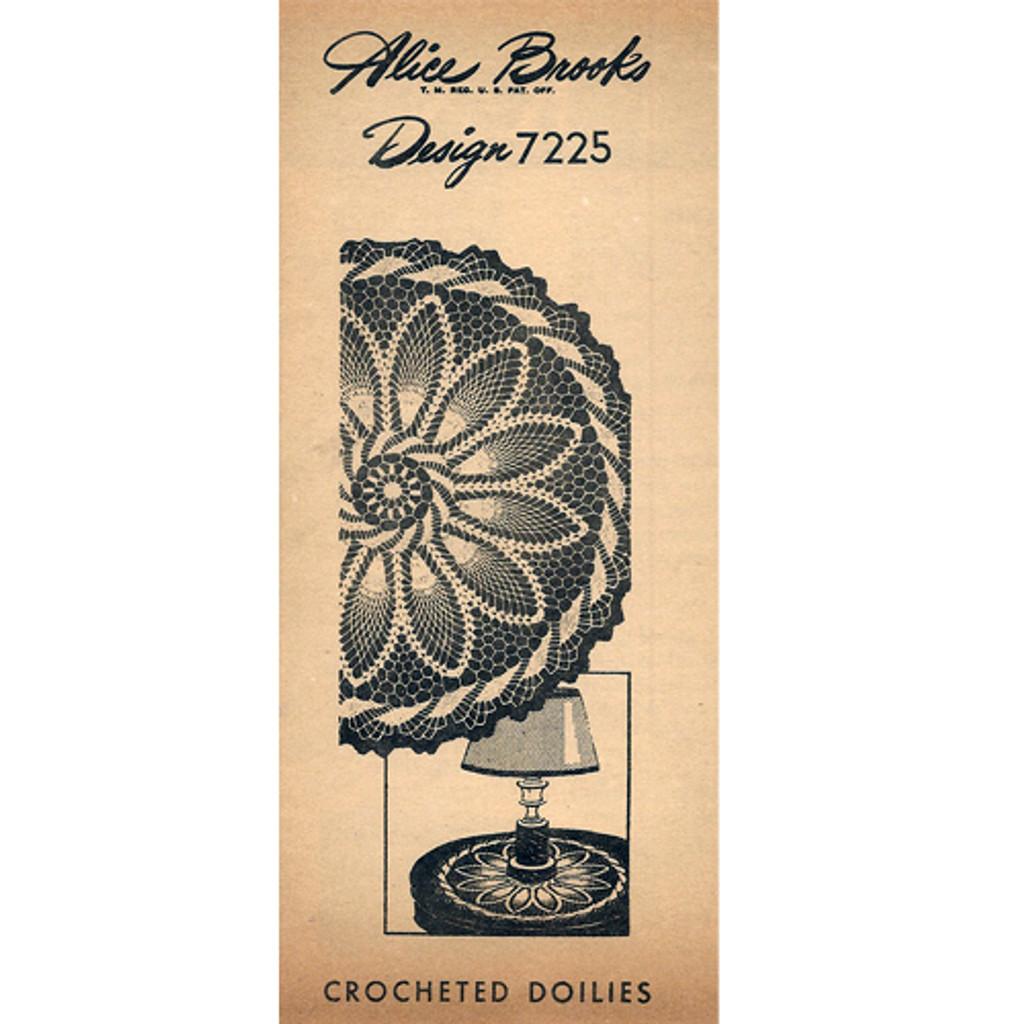 Alice Brooks 7215, Lollipop Pineapple Doily Crochet Pattern