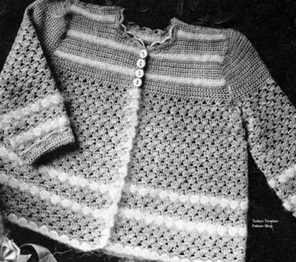 Easy Crochet Baby Jacket Pattern