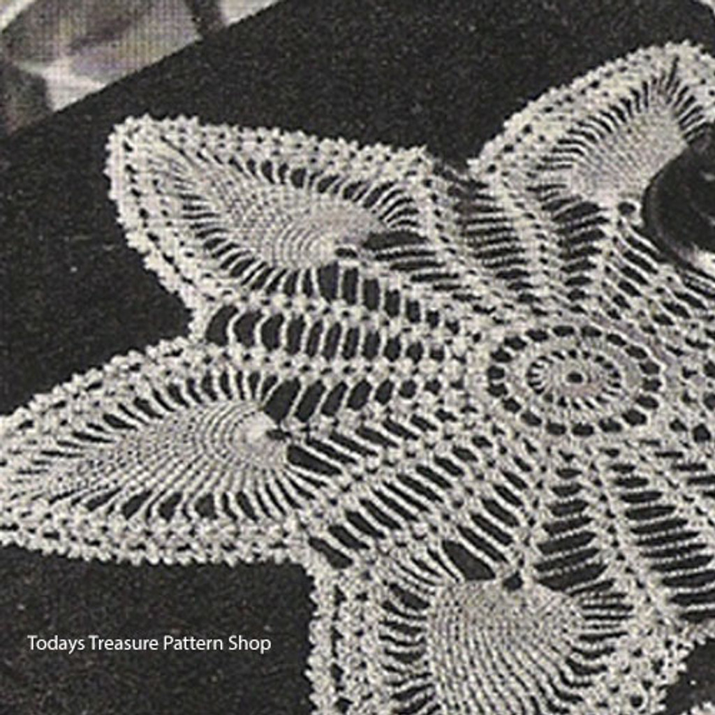 Wheel Crochet Doily with Pineapple Border Pattern