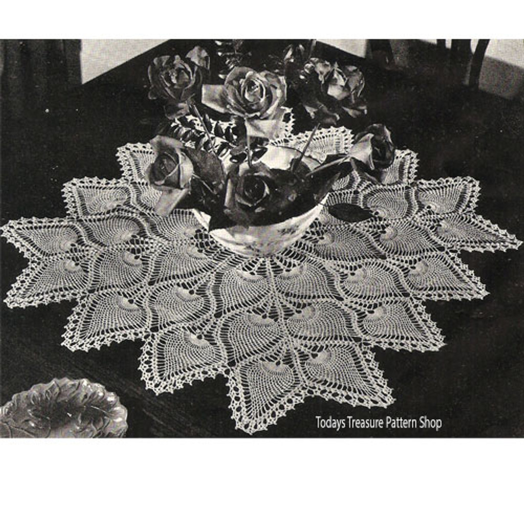 Crochet Pineapple Medallion Doily or Cloth Pattern