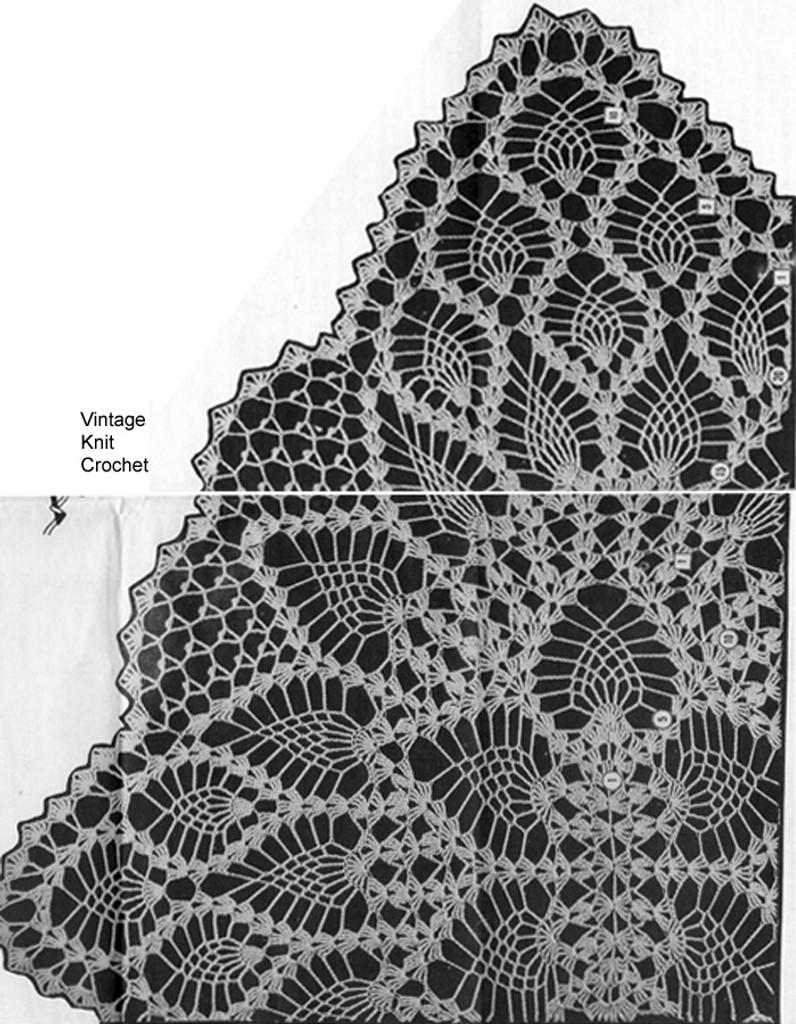 Crochet Pineapple Pattern Stitch Illustration, Laura wheeler 645