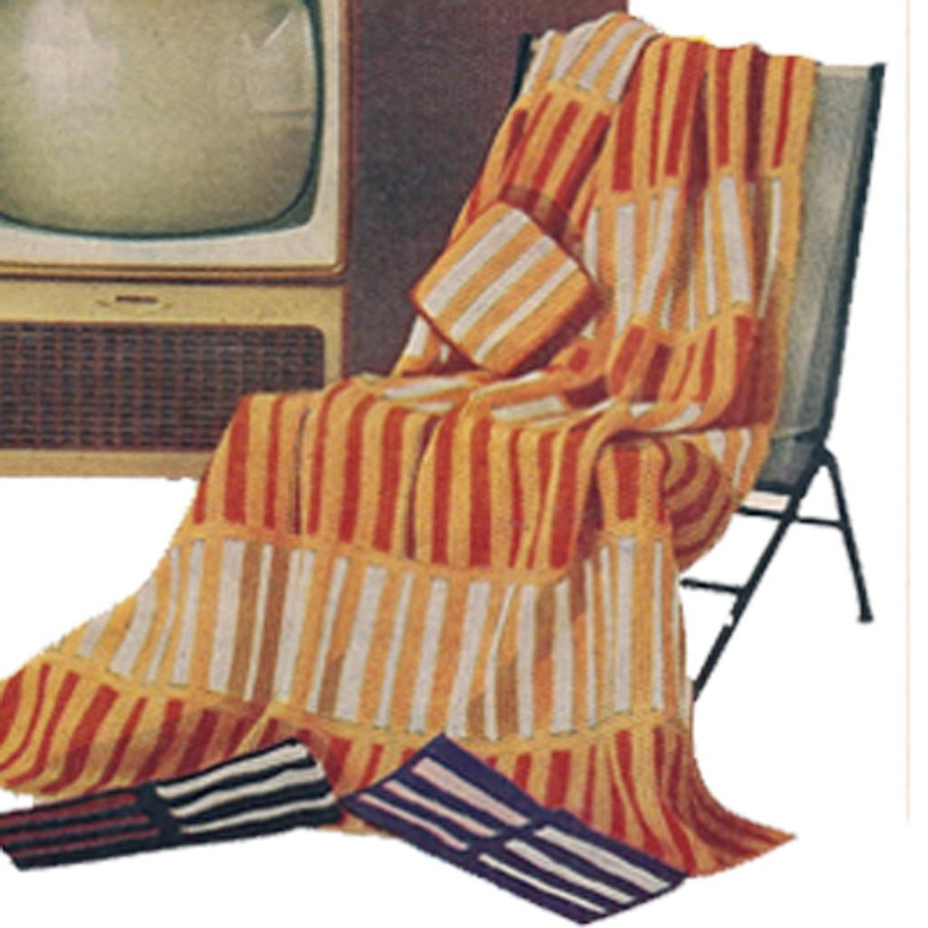 Knitting Pattern Geometric Stripe Afghan