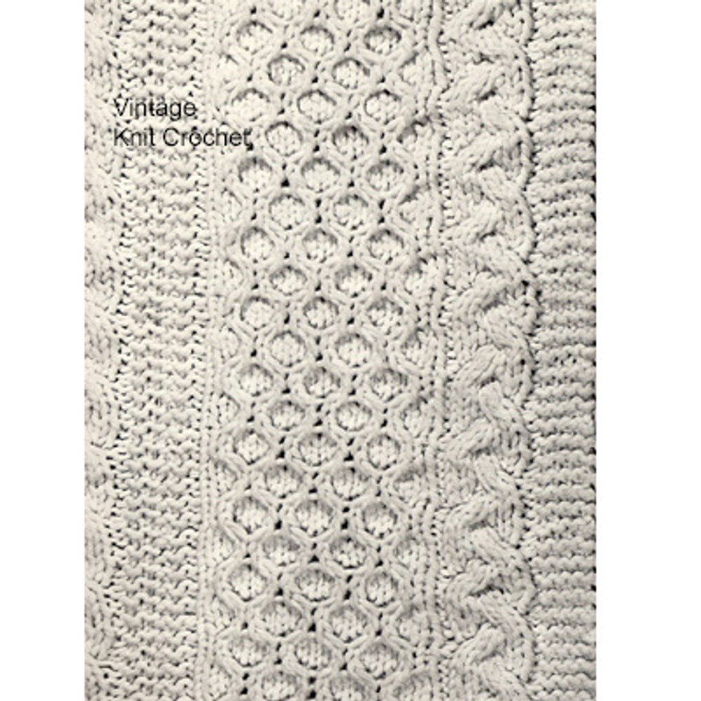 Cabled Afghan Pattern Stitch Illustration