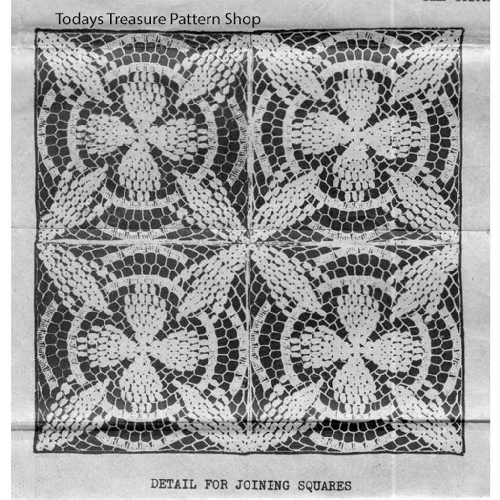 Joined Crochet Popcorn Squares Illustration