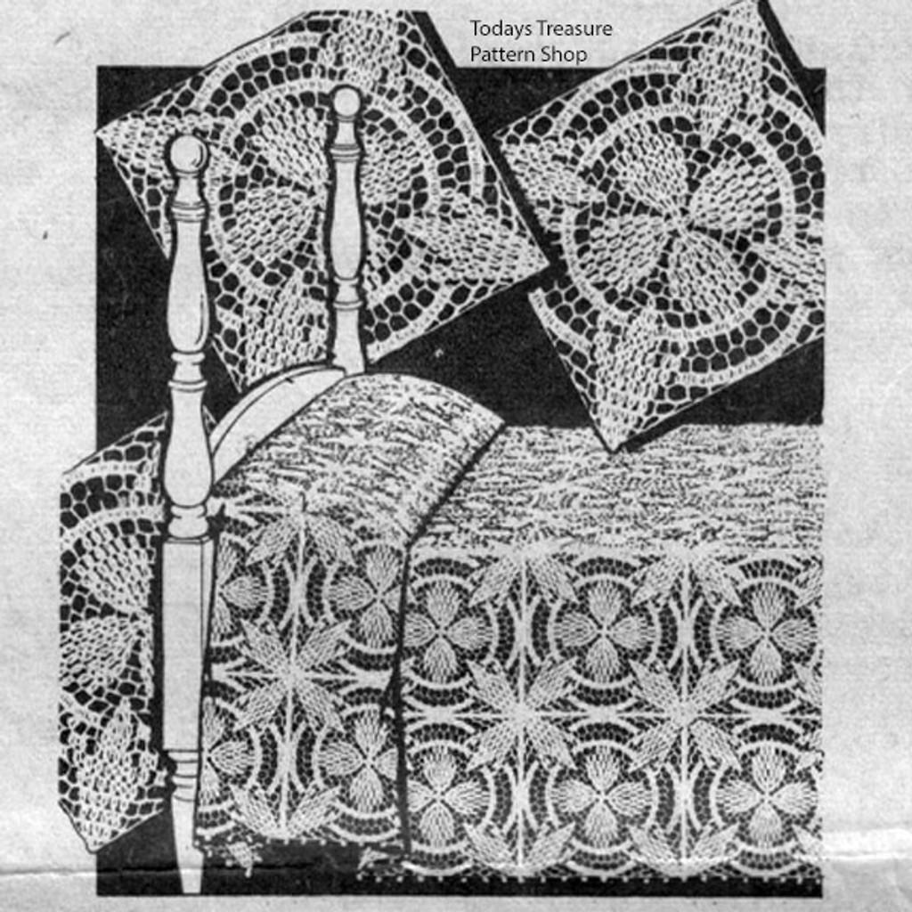 Crochet Bedspread Pattern in Popcorn Squares