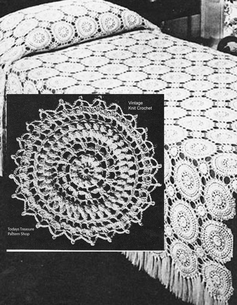 Vintage Crochet Peachtree bedspread pattern
