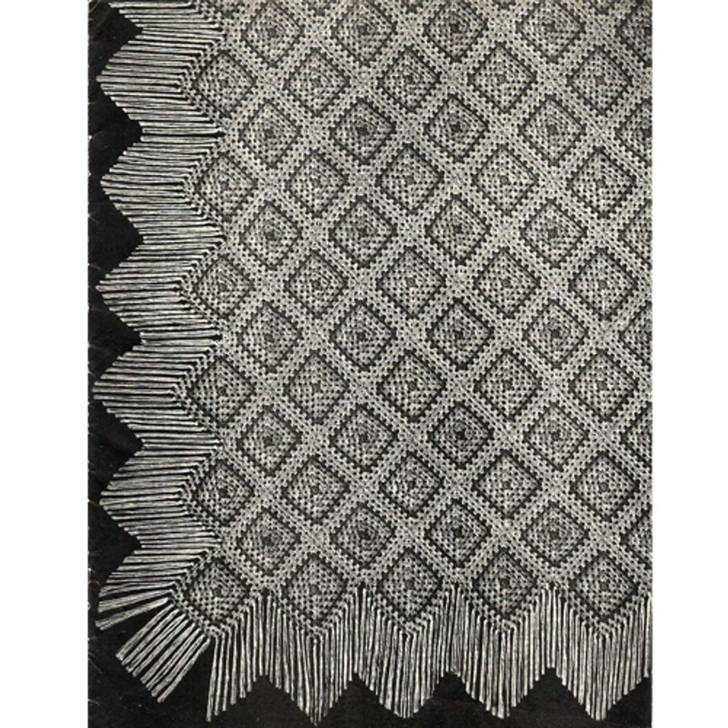 Crochet Diamonds Bedspread pattern
