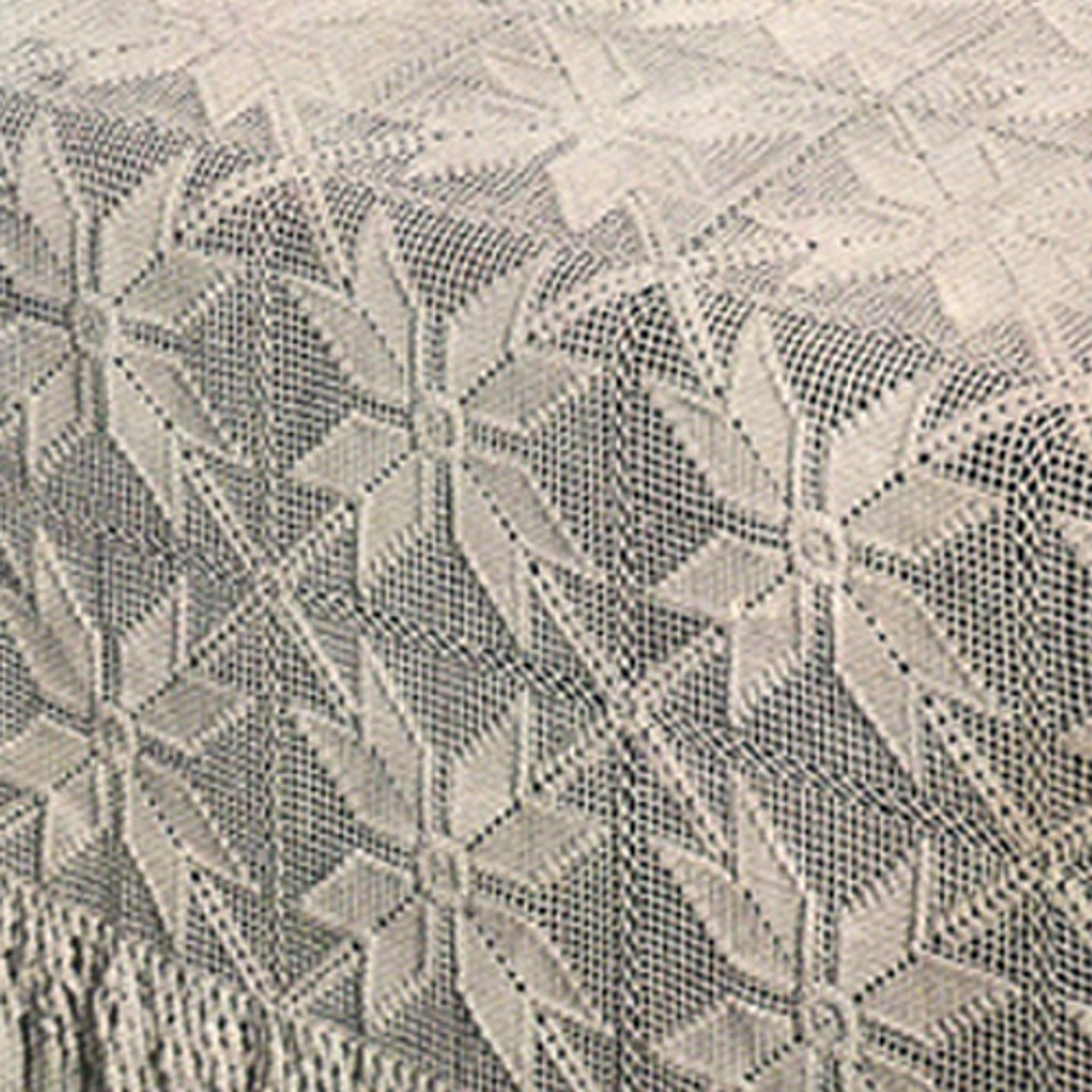Big Round Puritan Crocheted Tablecloth Pattern 62 inches