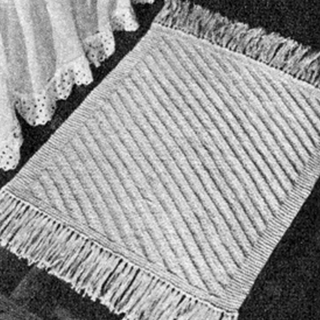 Vintage Rug Knitting Pattern in Diagonal Stitch