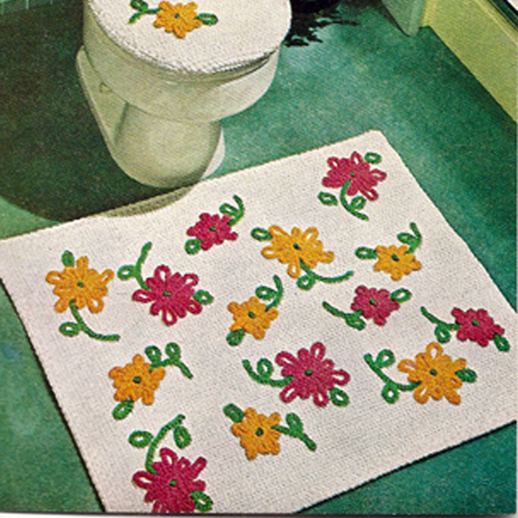 Colorful Flower Rug Knitting Pattern