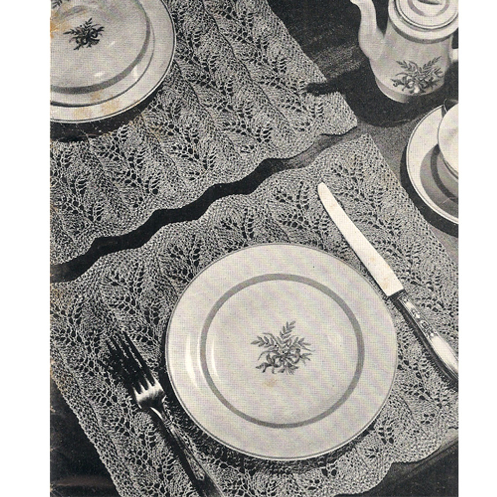 Vintage Knitted Luncheon Set Pattern