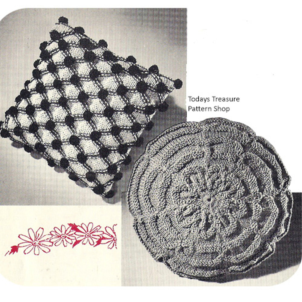 Knitting Pattern for Smocked Pillows