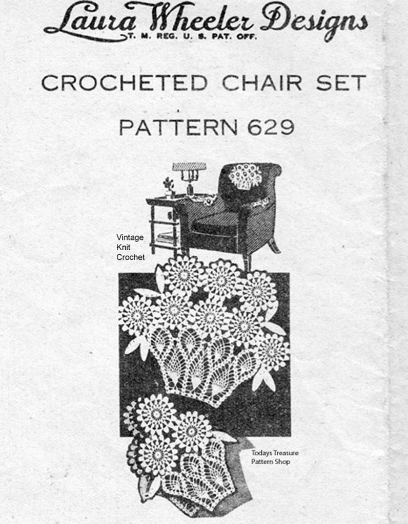 Mail Order Crochet Daisy Basket Doily Pattern, Mail Order 629