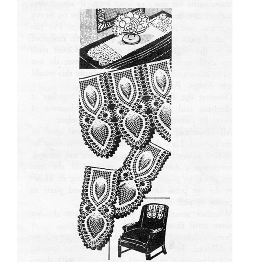 Mail Order 7384, Pineapple Panel Chair Set Pattern