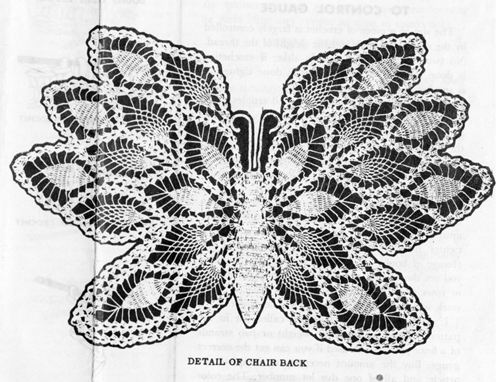 Crocheted Butterfly Pattern Illustration