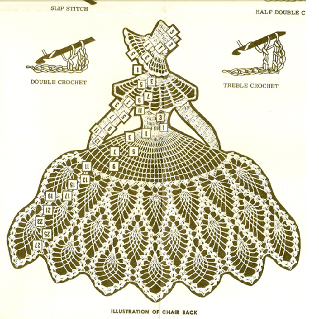 Old Fashioned Girl Crochet Doily Pattern No 555