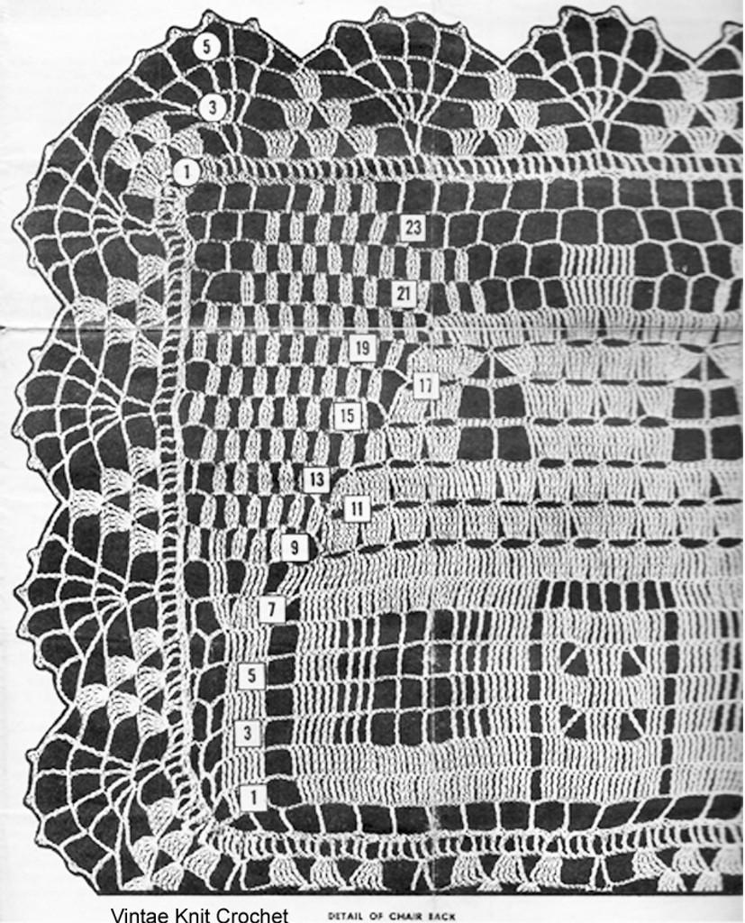 Crochet House Doily Pattern Set Illustration, Mail Order 673