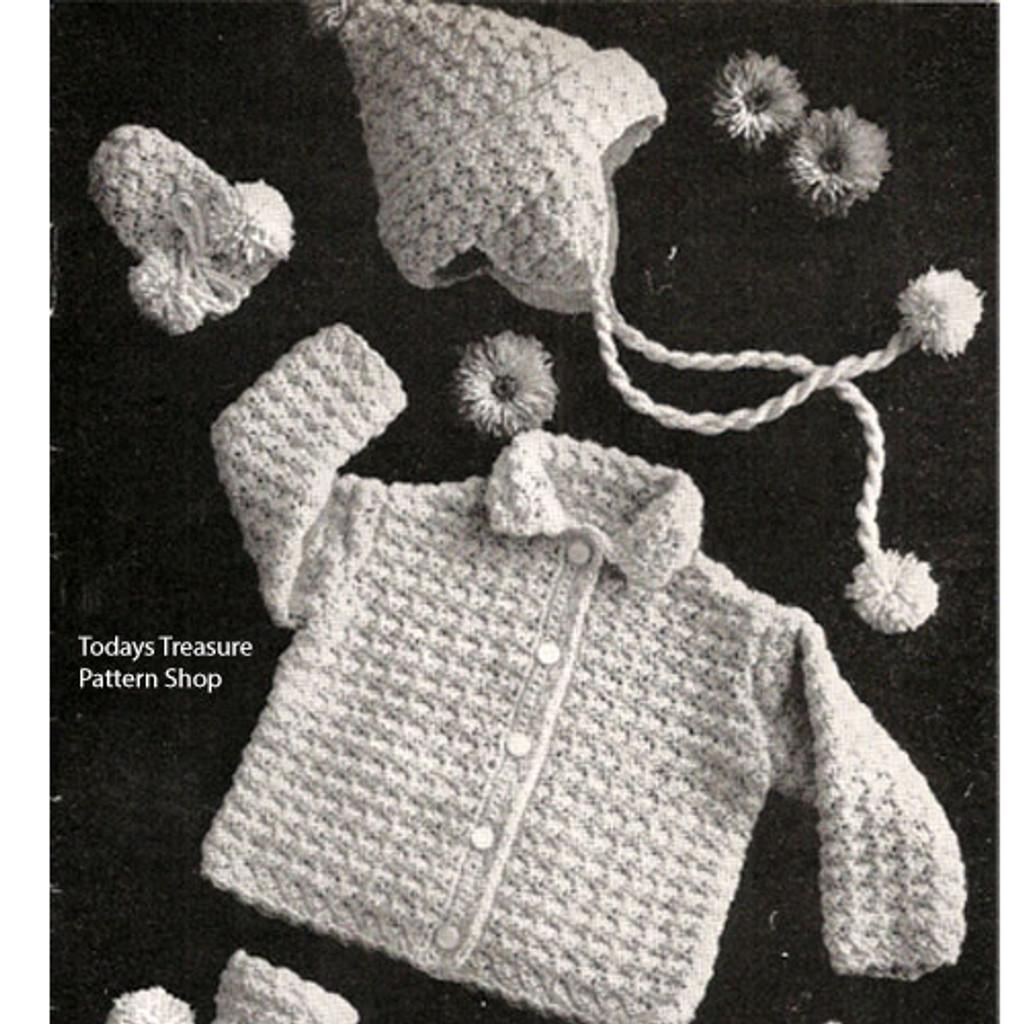 Crocheted Baby Set Pattern
