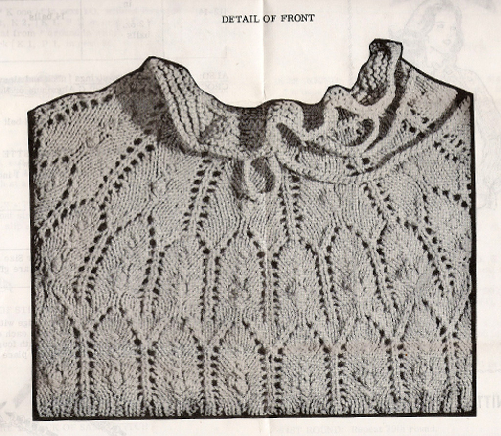 Knitting Pattern Pullover Stitch Detail