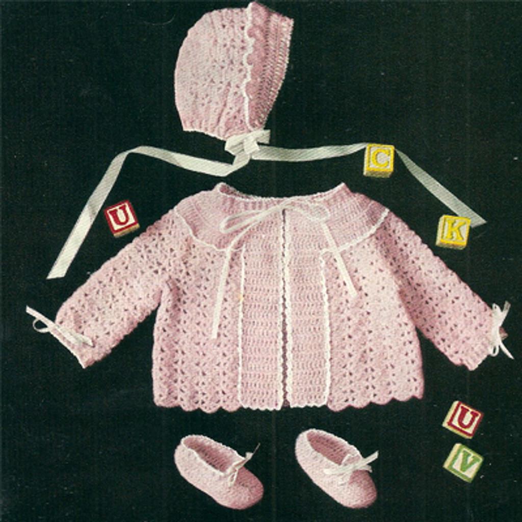 Shell Stitch Baby Set Pattern
