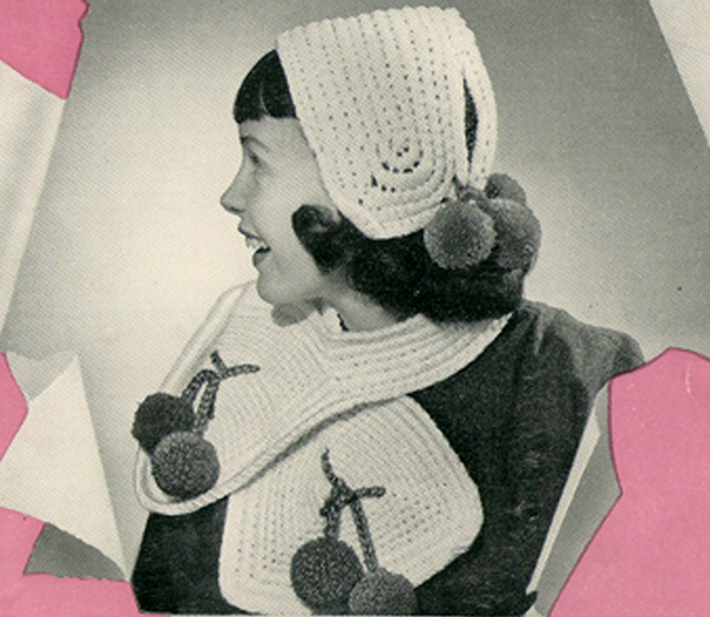 Girls Crocheted cap and scarf pattern