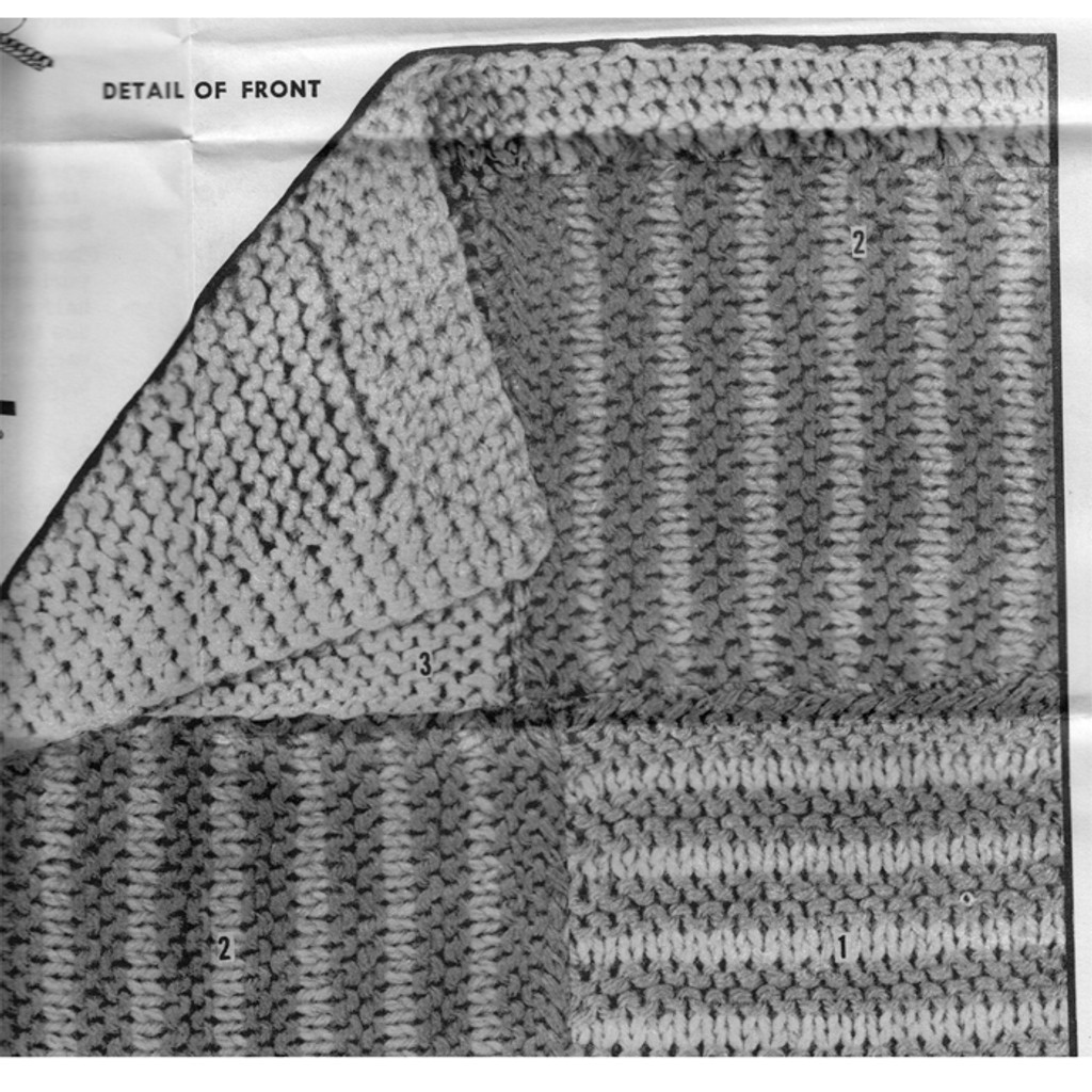 Knitted Patch pattern stitch