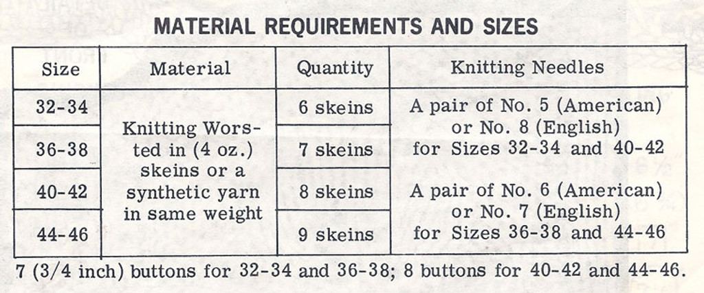 Knitted Cardigan Color Chart