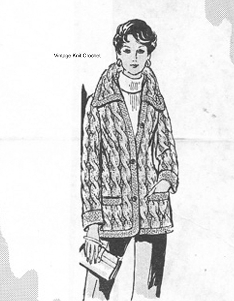 Knitted Cable Jacket Pattern Design 502