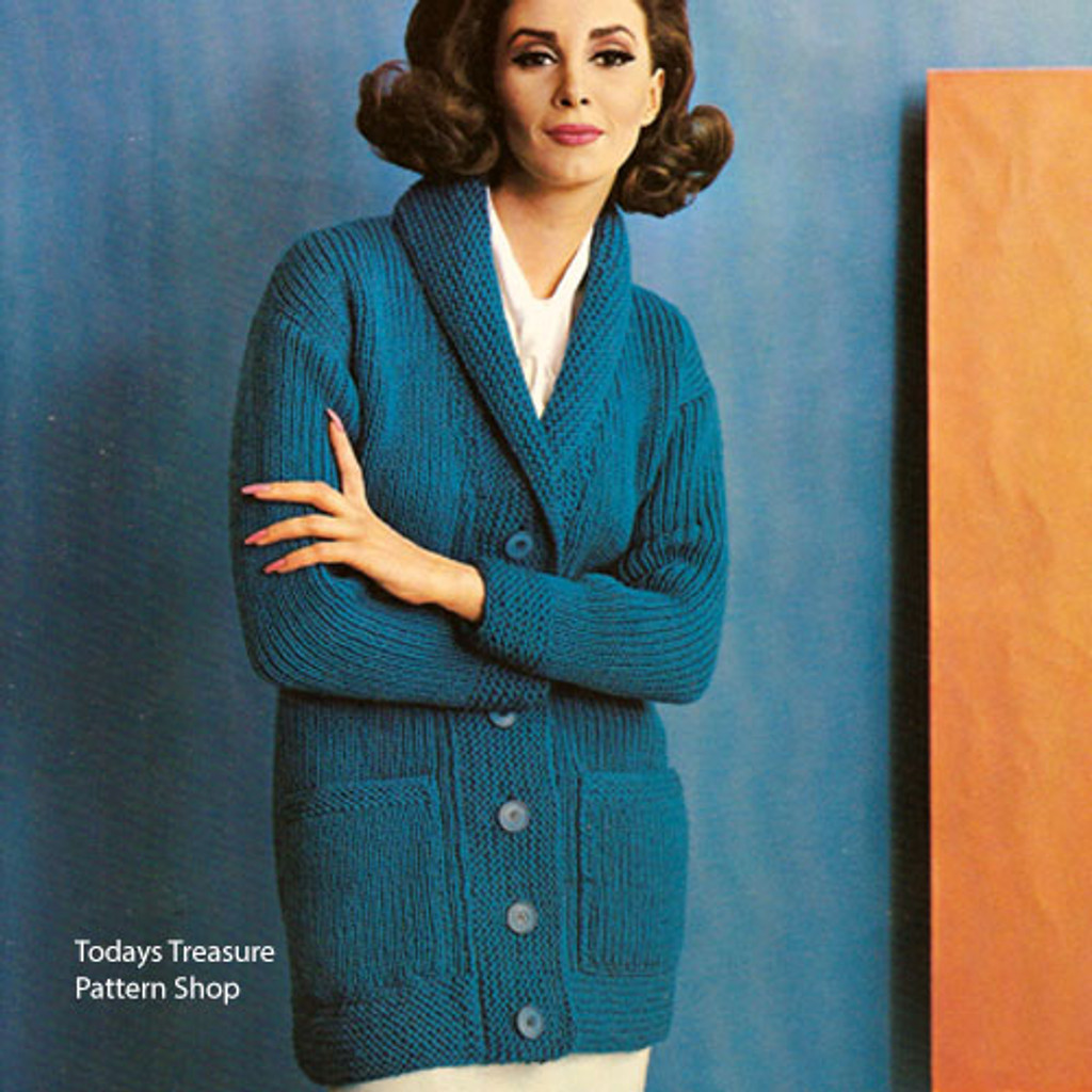 Womans Knitted Coachman Coat Pattern