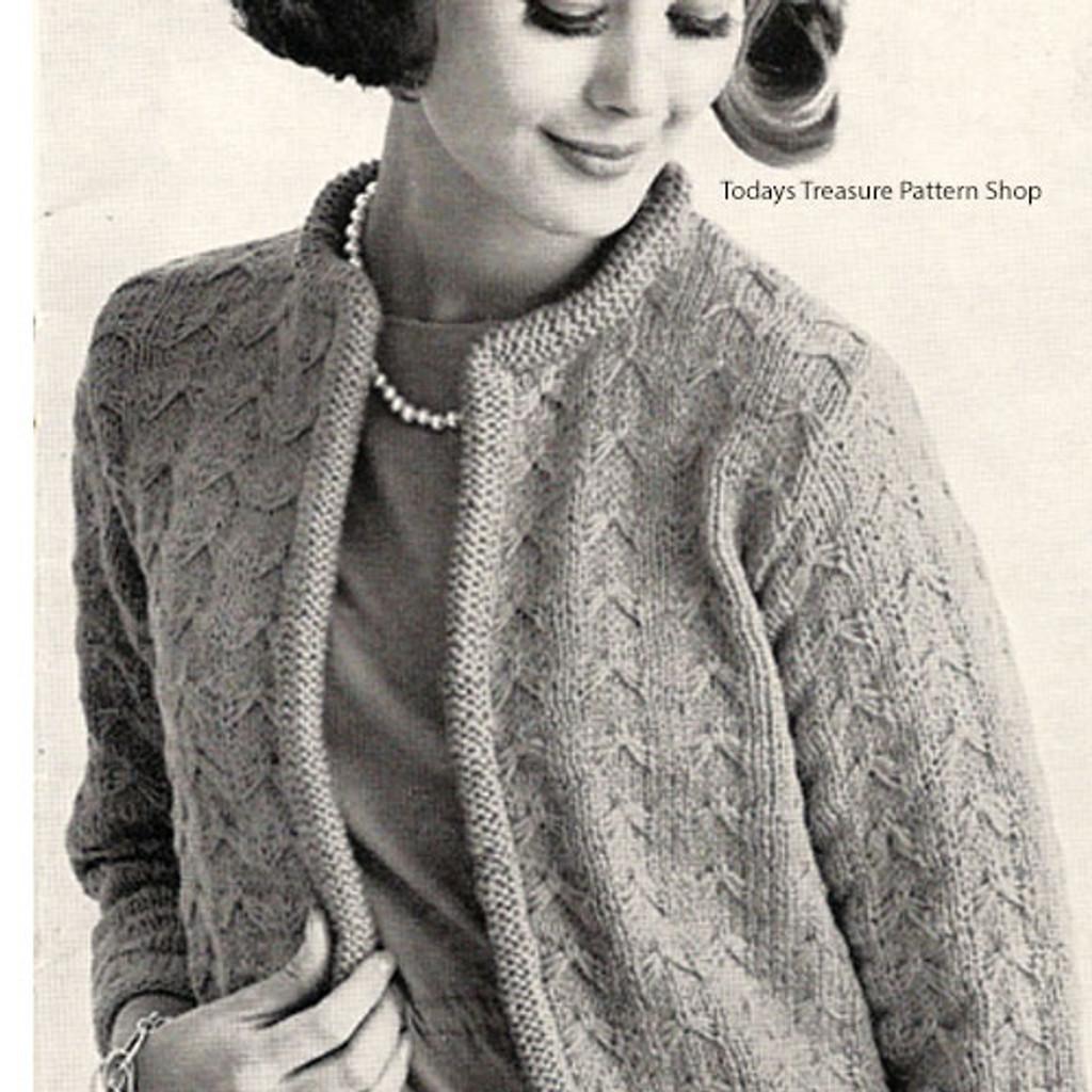 Knitting Pattern Womans Cardigan, Plus Size