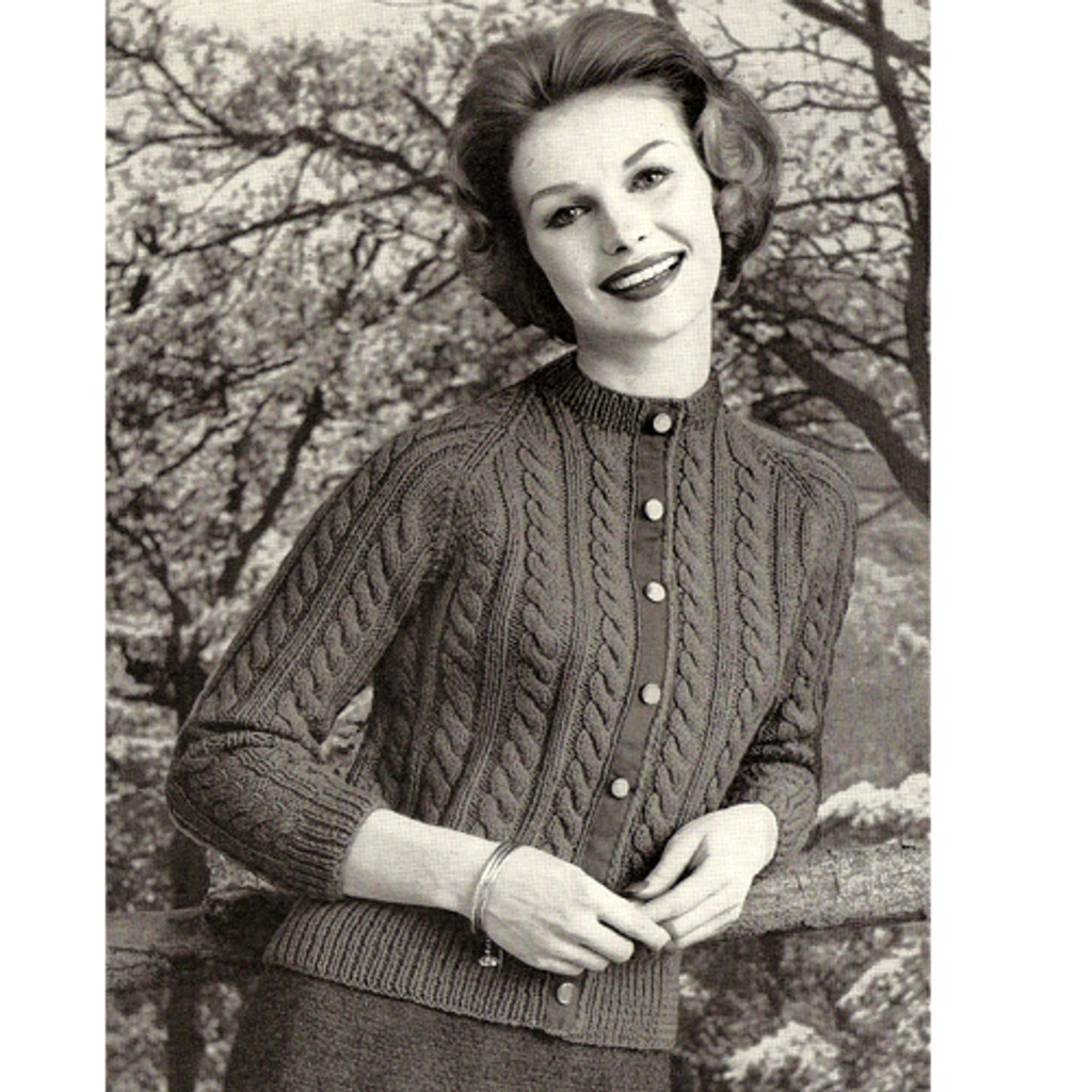 Classic Knitted Cable Cardigan Pattern