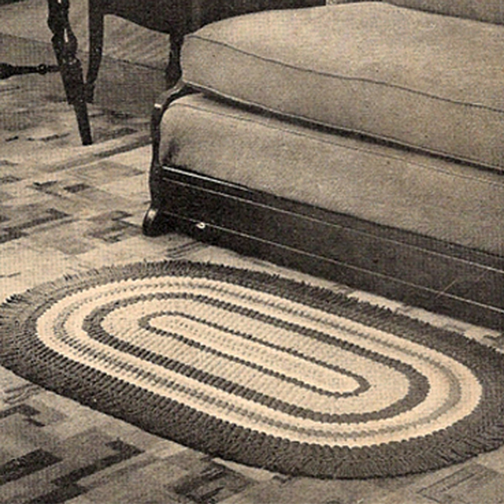 Colorful Oval Crocheted Area Rug Pattern