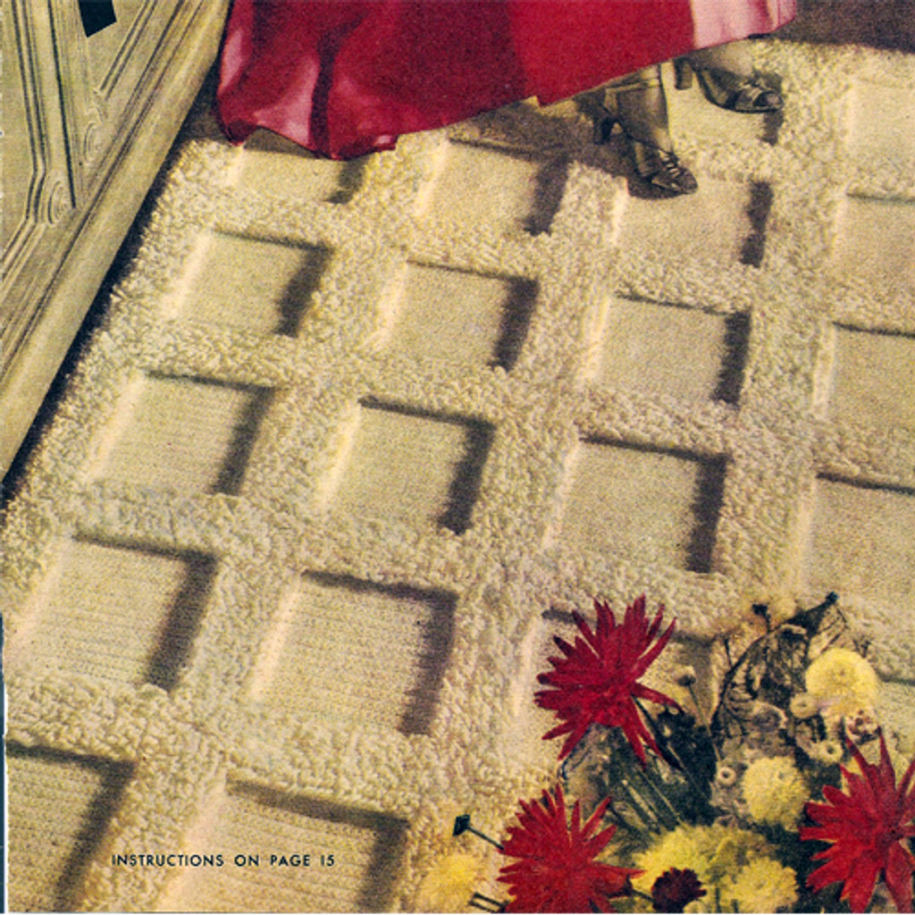 Crochet Block Tufted Rug pattern from American Thread