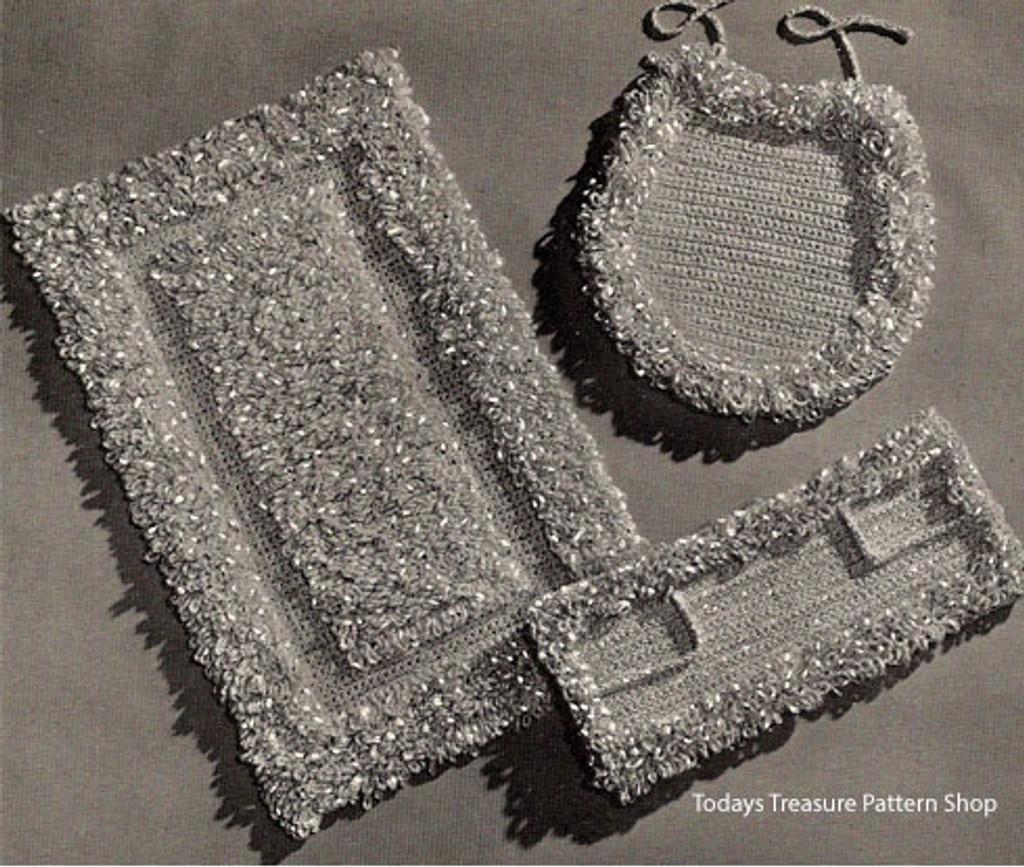 Crochet Loop Stitch Bathroom Rug Patter