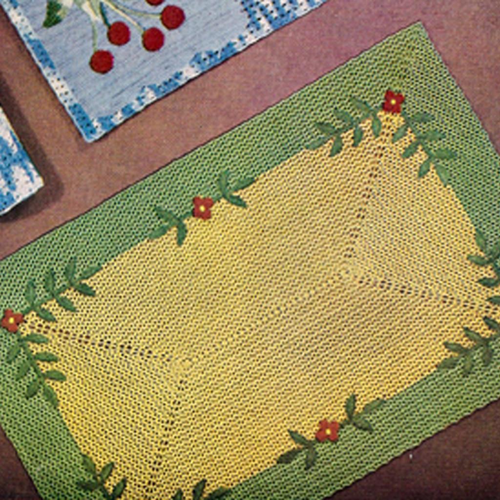 Vintage Garden Party Crochet Place Mat Pattern