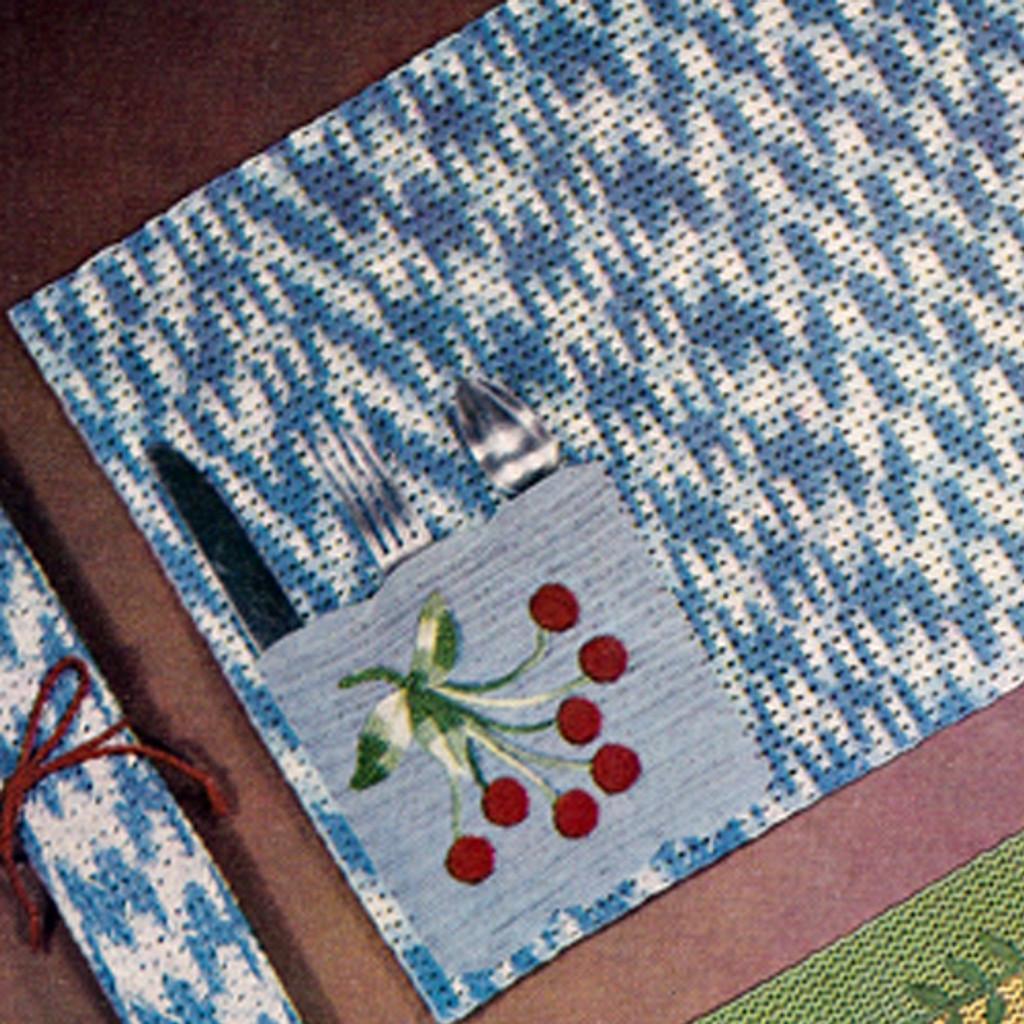 Vintage Cherry Roll Crochet Place Mat Pattern
