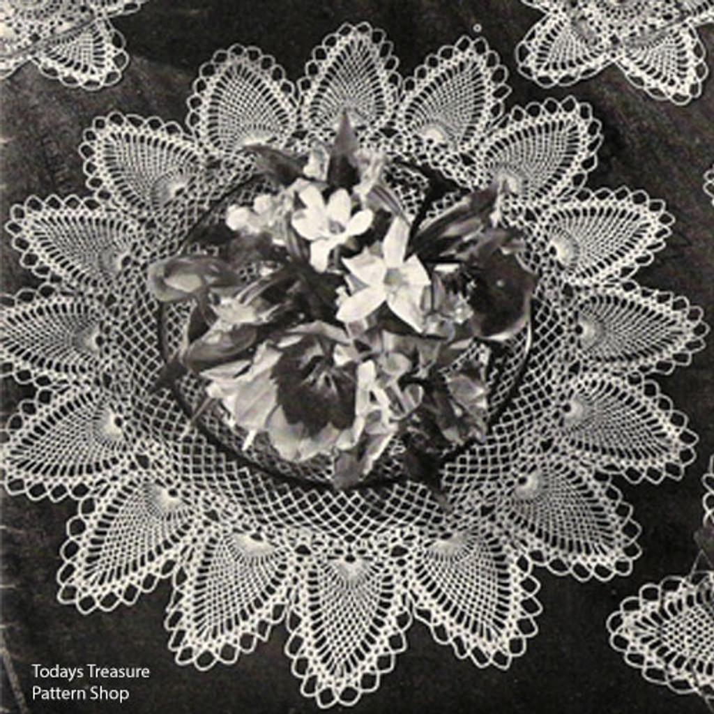 Vintage Pineapple Mats Crochet Pattern