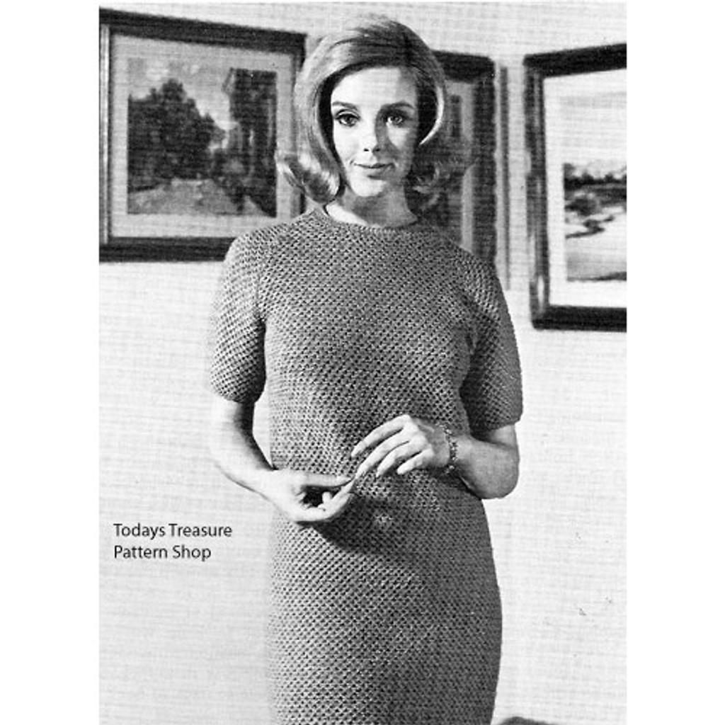 Vintage Straight Dress Knitting Pattern