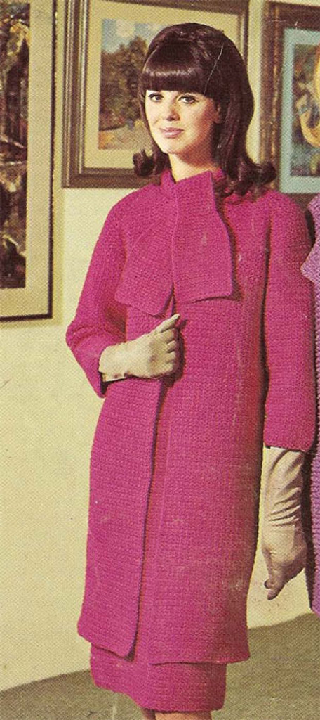 Vintage Knit Coat and Dress Pattern from Coats & Clarks